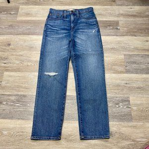 Madewell Cropped Classic Straight Leg Jeans NWT